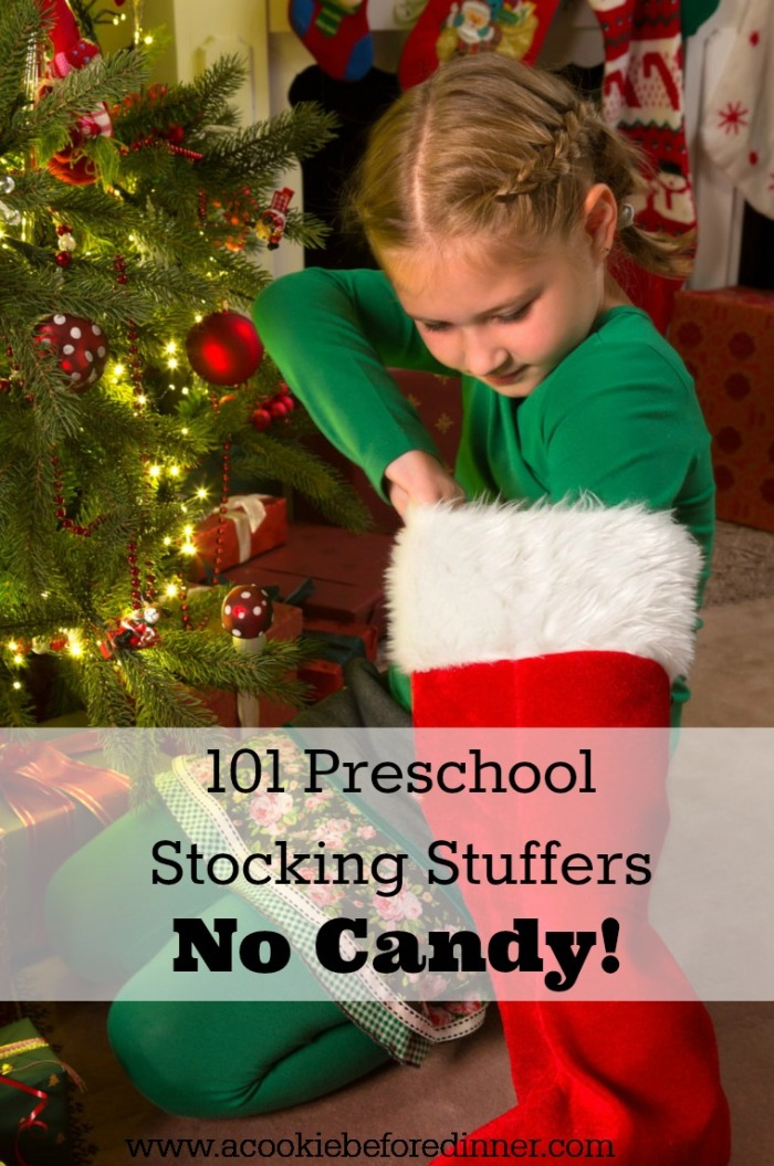 Christmas stocking stuffer ideas for preschoolers. No candy!
