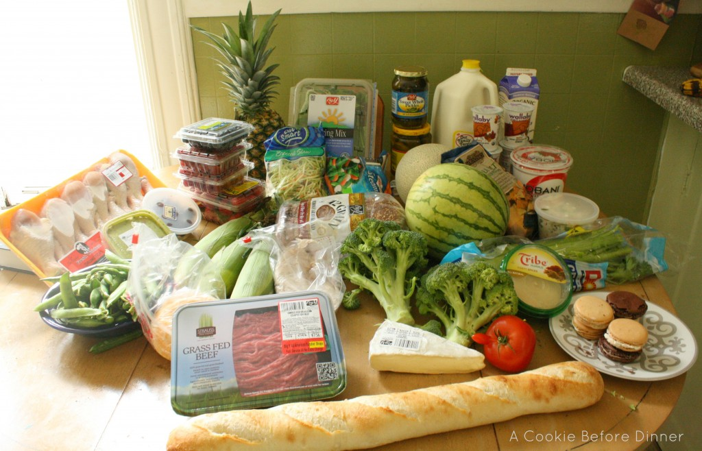 A week of groceries in America.