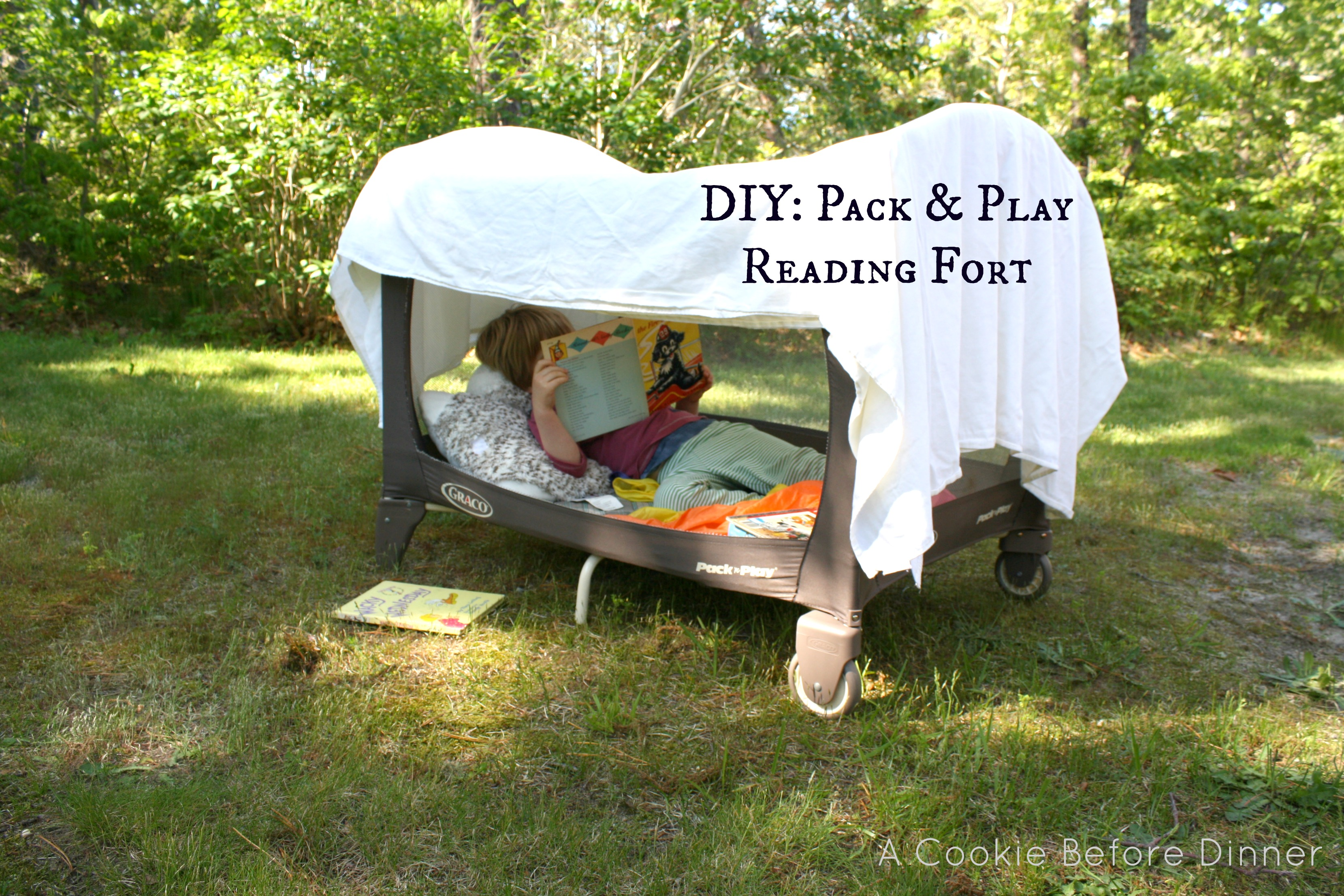 Diy Pack Play Reading Fort