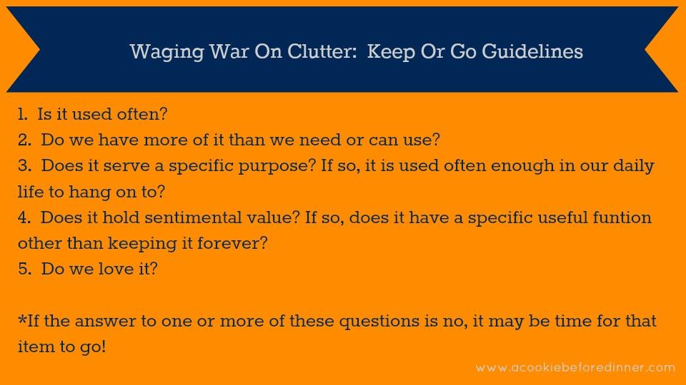 Waging War On Clutter