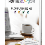 My Big Blogging Secret- The How They Blog Blog Planning Kit