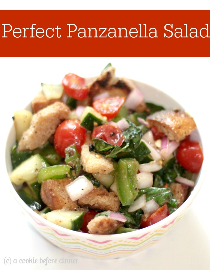 Beat the summertime heat with refreshing perfect panzanella. Farm fresh veggies + crusty bread = heaven.