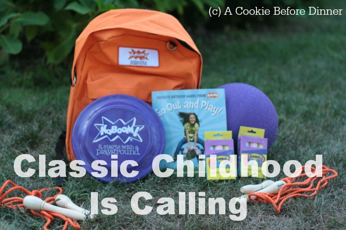 Classic childhood is calling with this Kaboom Get Out And Play Pack