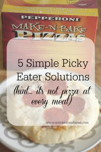 Simple Picky Eater Solutions. Wondering just what to do with that picky eater of yours? I've got 5 sure fire tips to get you headed in the right direction!