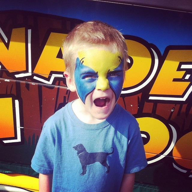 Malone's painted Wolverine Face at the Westfield Fair