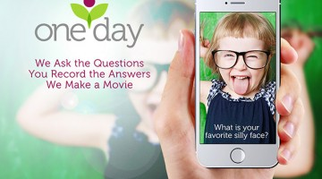 The One Day App lets you record, upload, and save you precious moments with your kids.