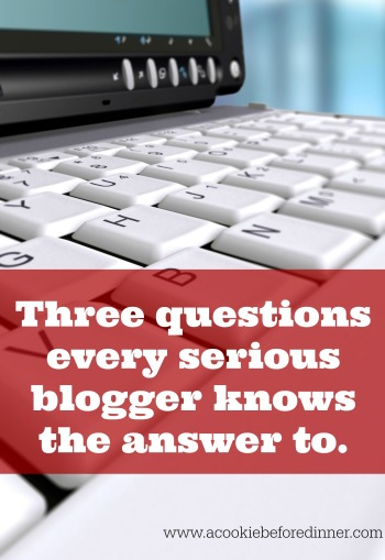 Blogger Rehab. Every serious blogger knows the answer to these three questions