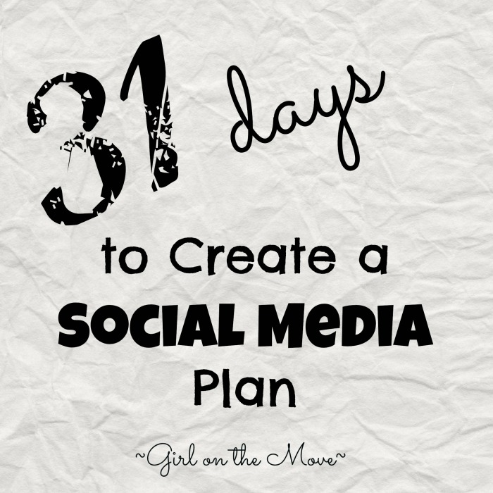 Use this series to create a social media plan for your blog