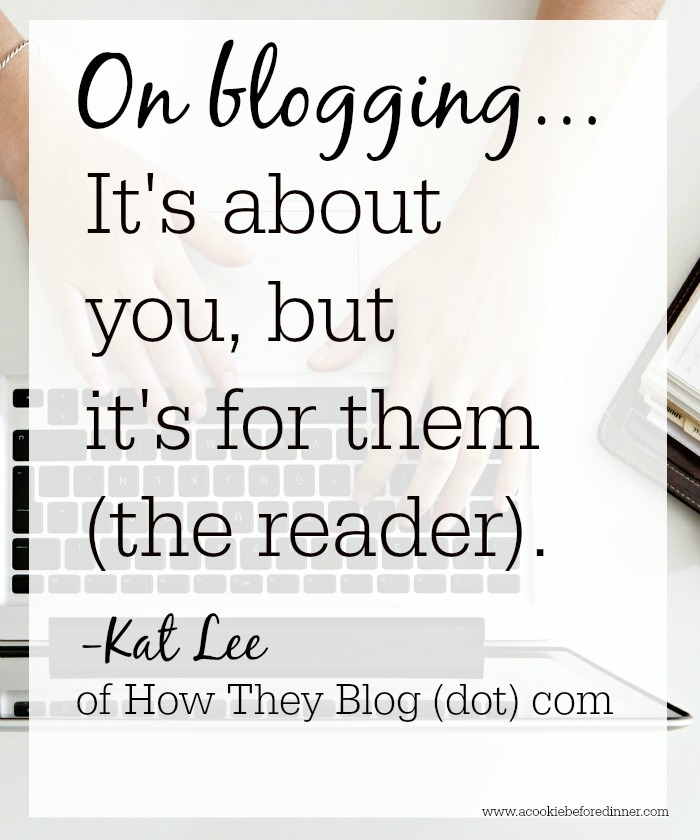 Blogger rehab on blogging