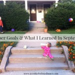 October Smart Goals & What I Learned In September