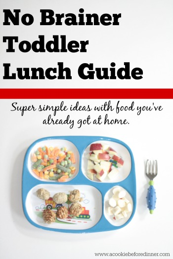 no brainer toddler lunch guide