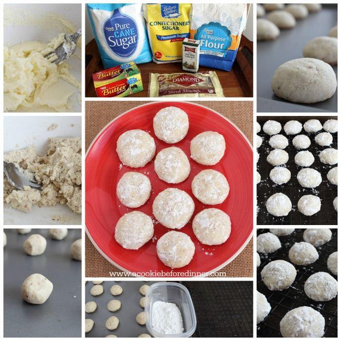Almond Snowball Christmas Cookies. So easy to make and a total crowd pleaser!