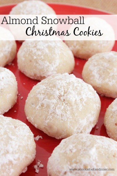 Almond Snowball Christmas Cookies