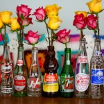 On Roses And Flowers In Vintage Bottles