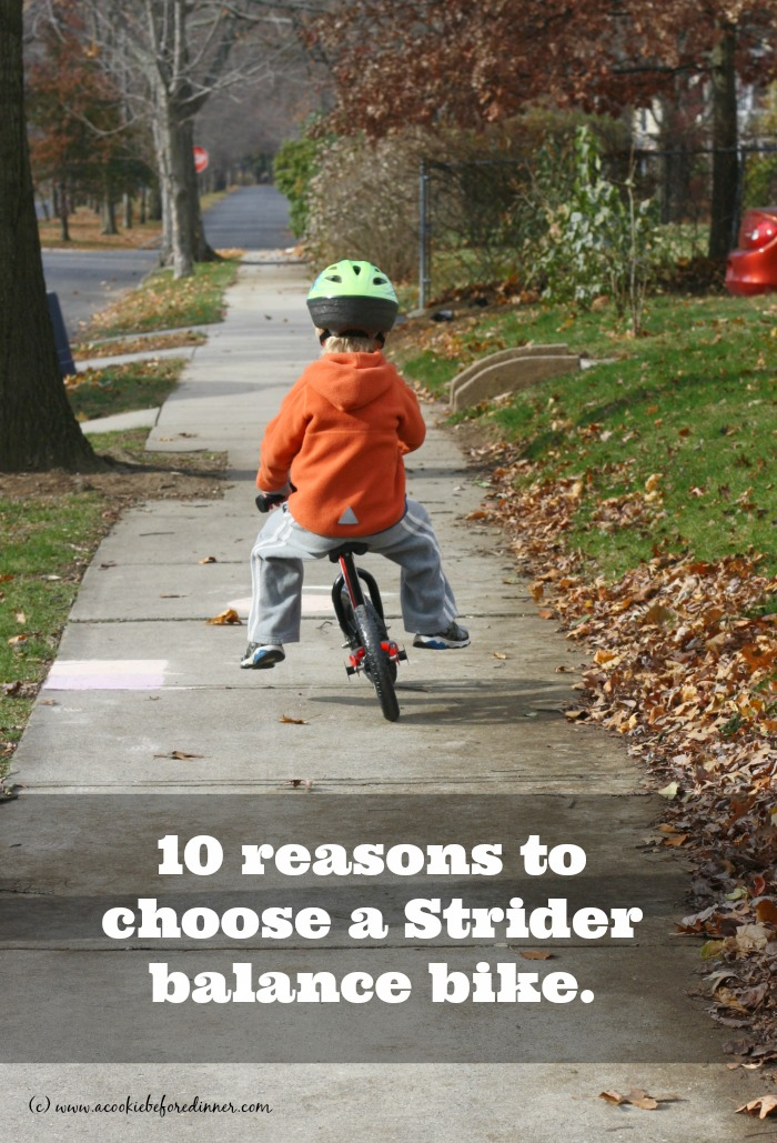 10 reasons to choose a Strider balance bike! There are so many different balance bikes on the market. Here are 10 reasons why Strider is the best!