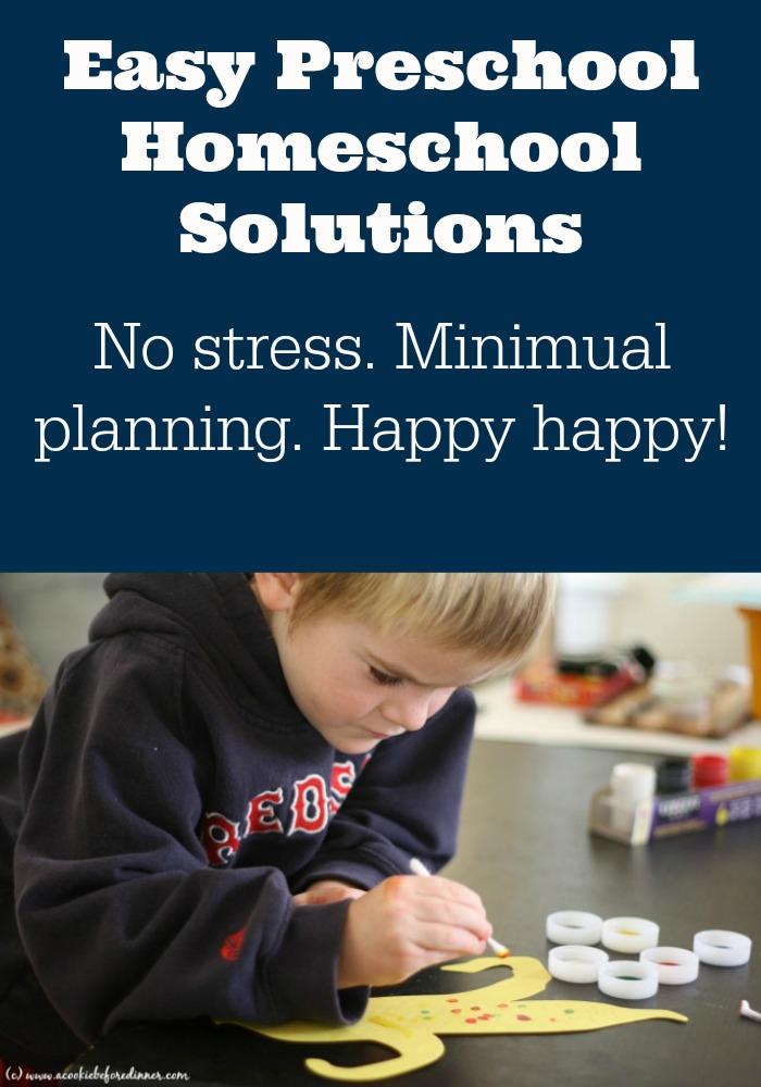 Eash preschool homeschool ideas. Deciding what to do as you homeschool your preschooler is tricky! How to not waste time or money homeschooling your preschooler.