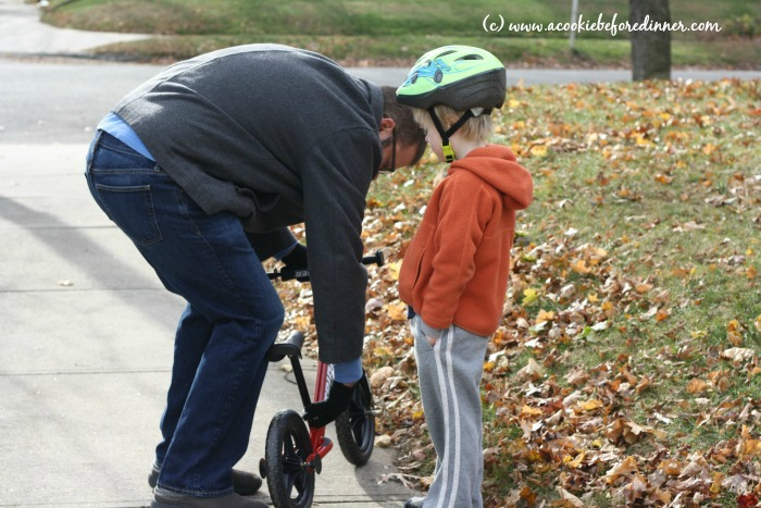 Strider Balance Bike- easy to adjust. No tools needed!