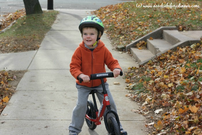 Strider balance bike builds confidence!