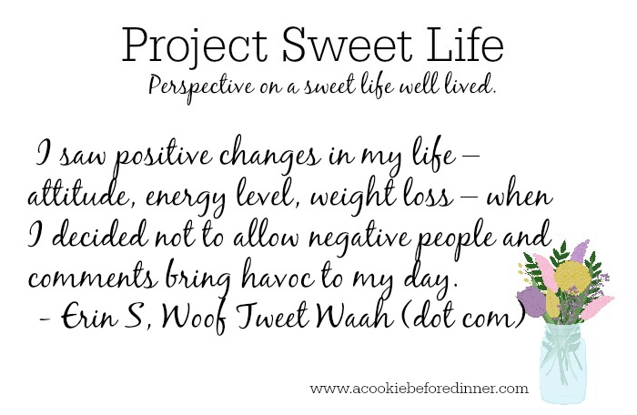 Project Sweet Life is a weekly series at www.acookiebeforedinner.com where women answer questions about their passions and what matters most in their world.