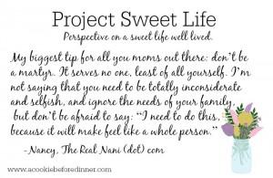 Project Sweet Life Nancy C