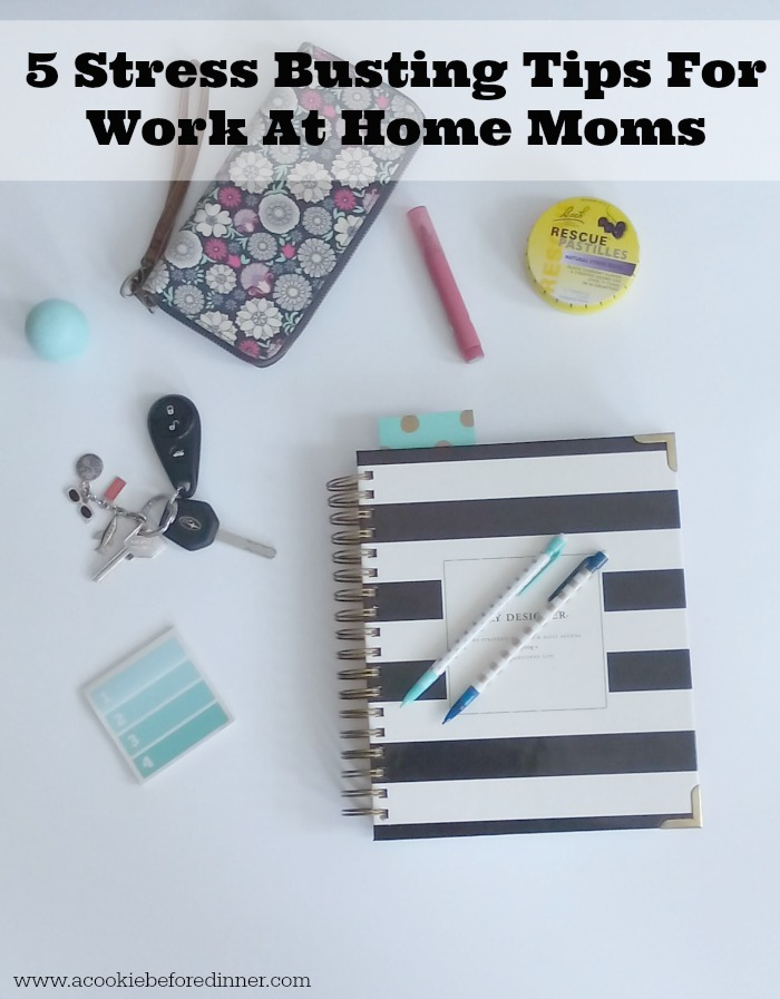 5 Stress Busting Tips For Work At Home Moms. Being a WAHM doesn't have to be stressful. Here are five tips to make things sail a little smoother in your world.