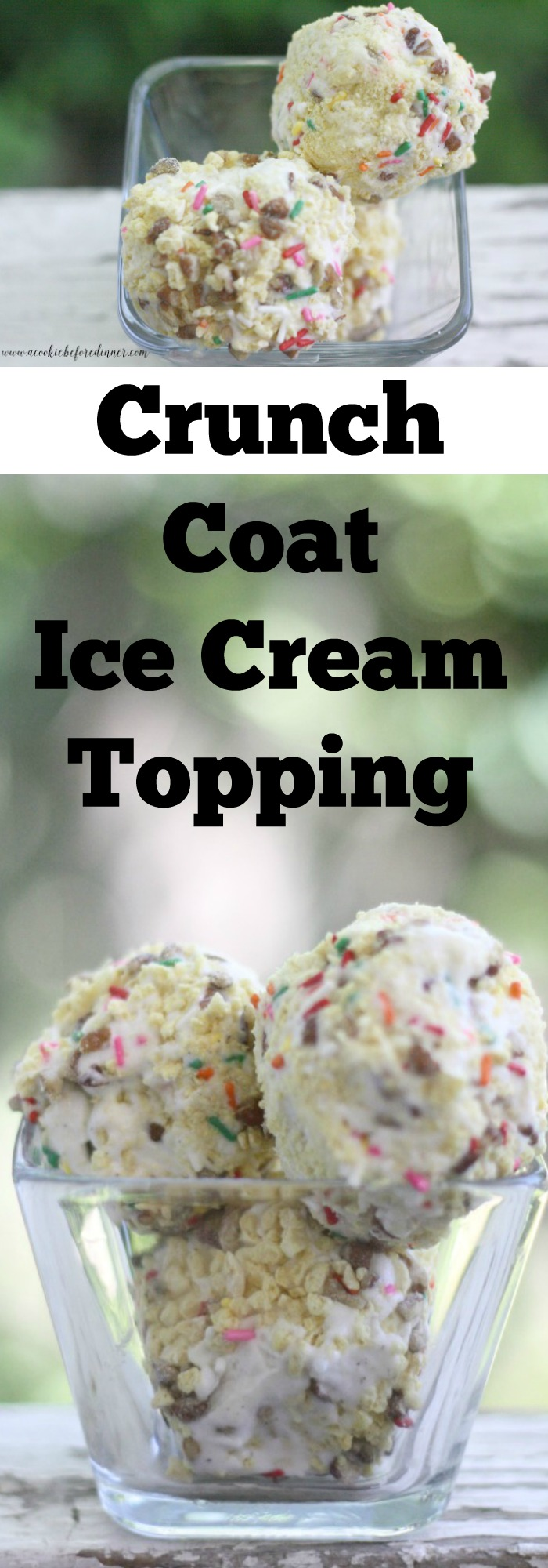 Crunch Coat Ice Cream Topping Collage