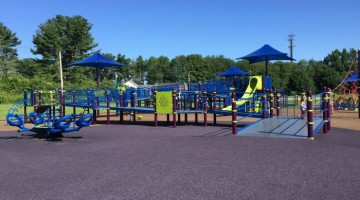 Jessica's Boundless Playground is a fully accessible playground located in Belchertown MA