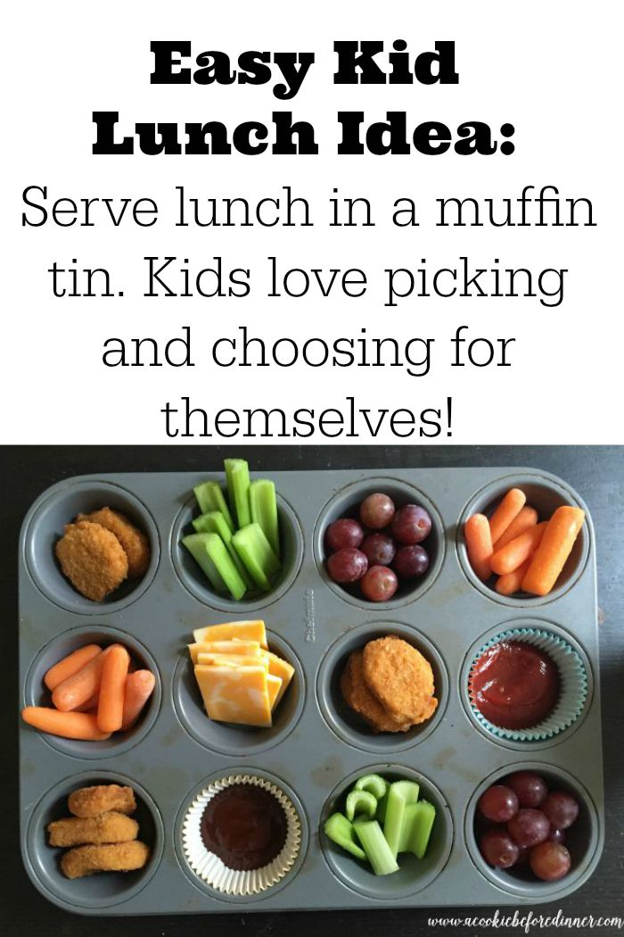 Easy Kid's Muffin Tin  Lunch! These are so easy to make and kids love these creative ways to serve a meal!