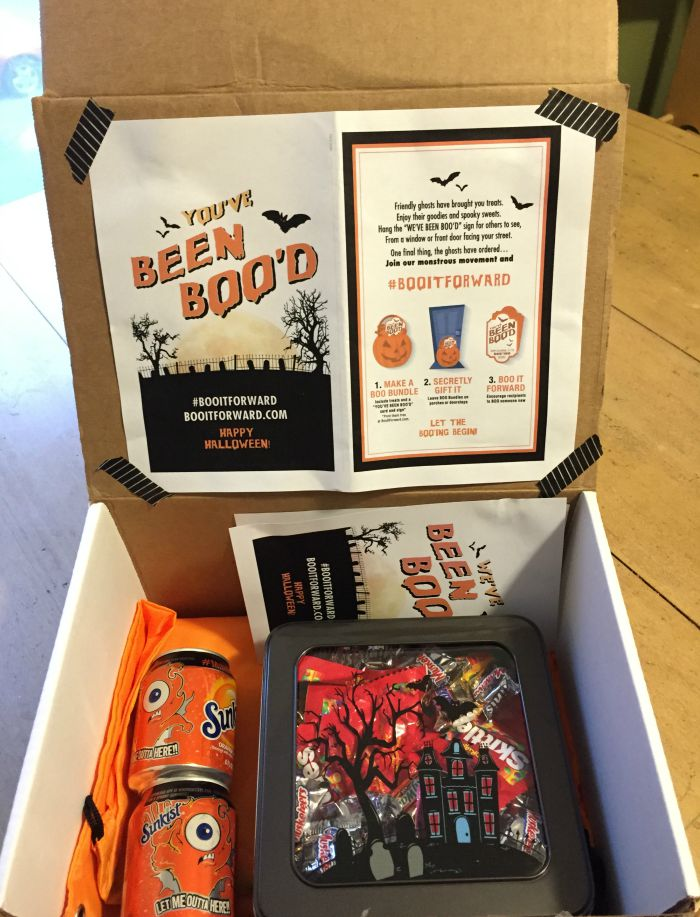 boo halloween care package