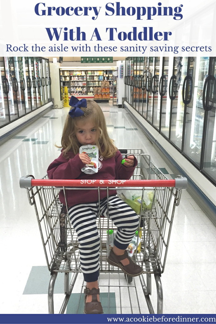 Grocery Shopping With A Toddler doesn't have to be stressful. Rock the aisle with these tips!