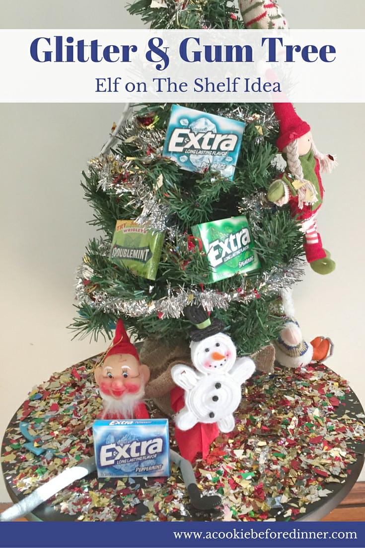 Glitter & Gum Tree Elf On The Shelf Idea