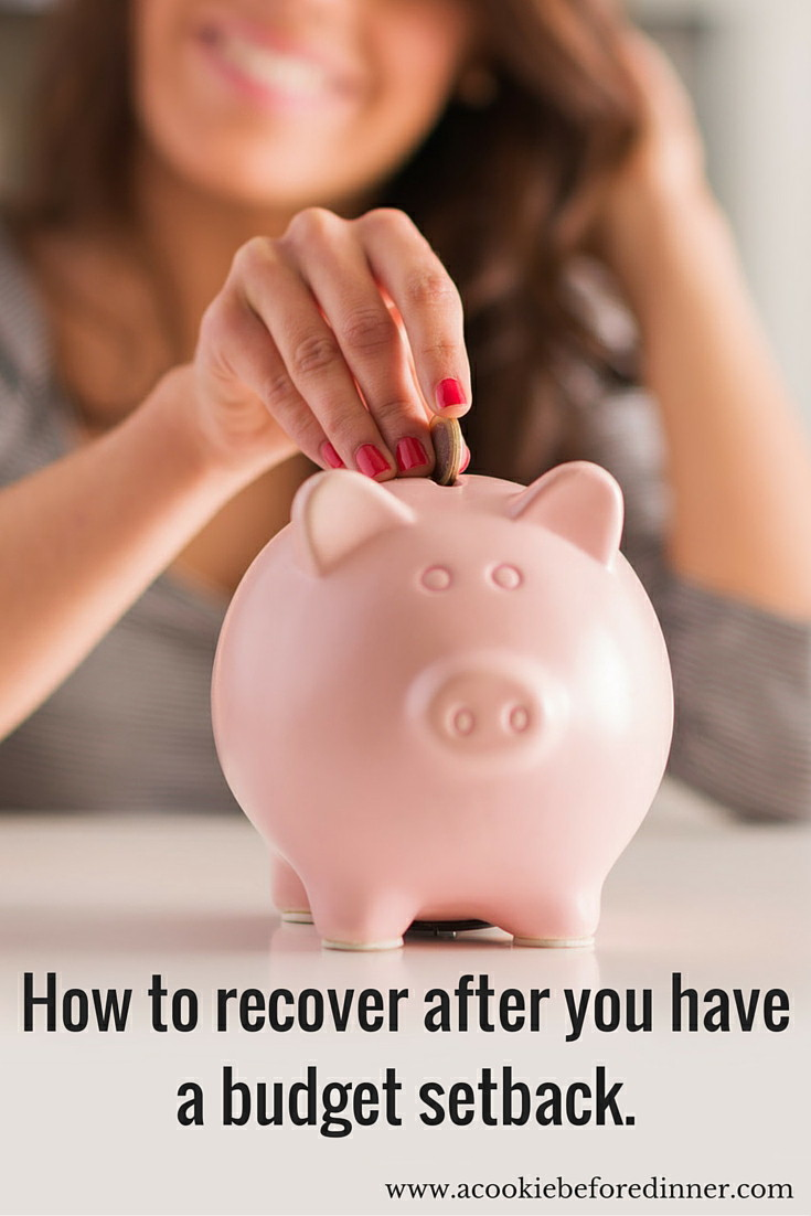 How to recover after you have a budget setback. Dealing with financial emergencies can be rough, here are some great ways to get back on track!