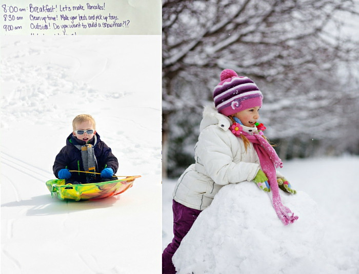 Create a snow day schedule for your kids and keep your stress low!