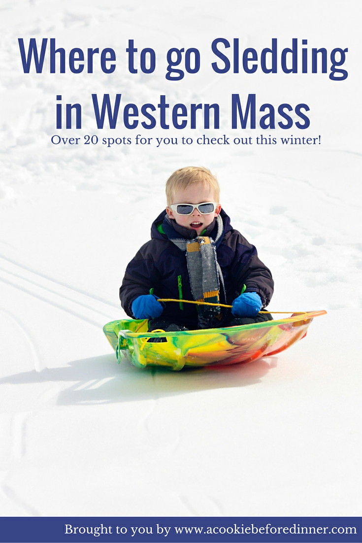 Where to go sledding in Western Mass. There are so many great places to go sledding in the Pioneer Valley and in the Berkshires. Here is a great resource for you!
