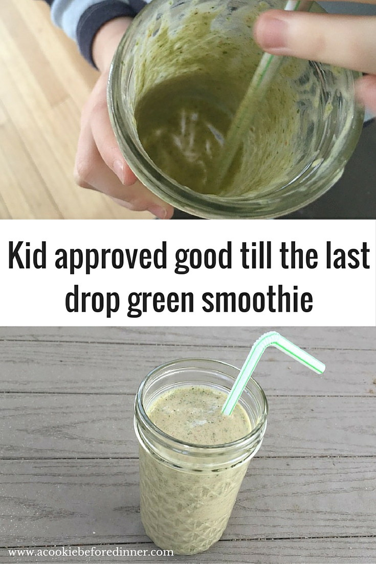 This toddler approved green smoothie recipe was also loved by my school age kid. Green smothie recipes for kids are easy!