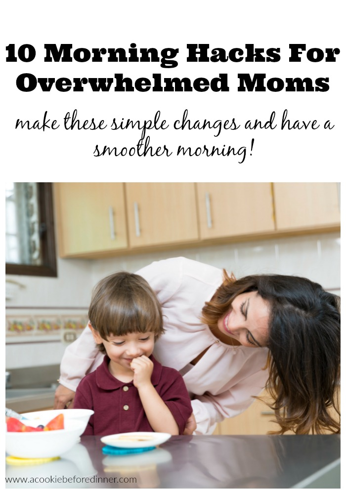 Save yourself morning stress. These are great motherhood hacks and easy to implement!