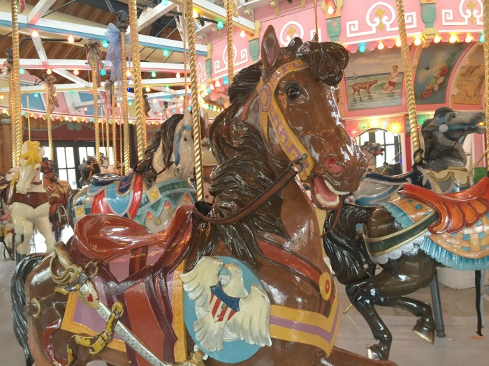 Riding the Holyoke Merry Go Round is one of the few great things to do in Holyoke MA with Kids !