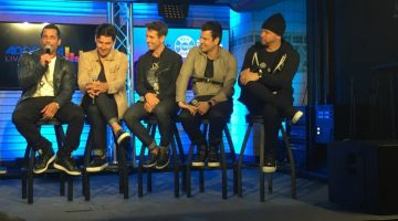 New Kids On The Block's Rock This Boat NYC Press Day