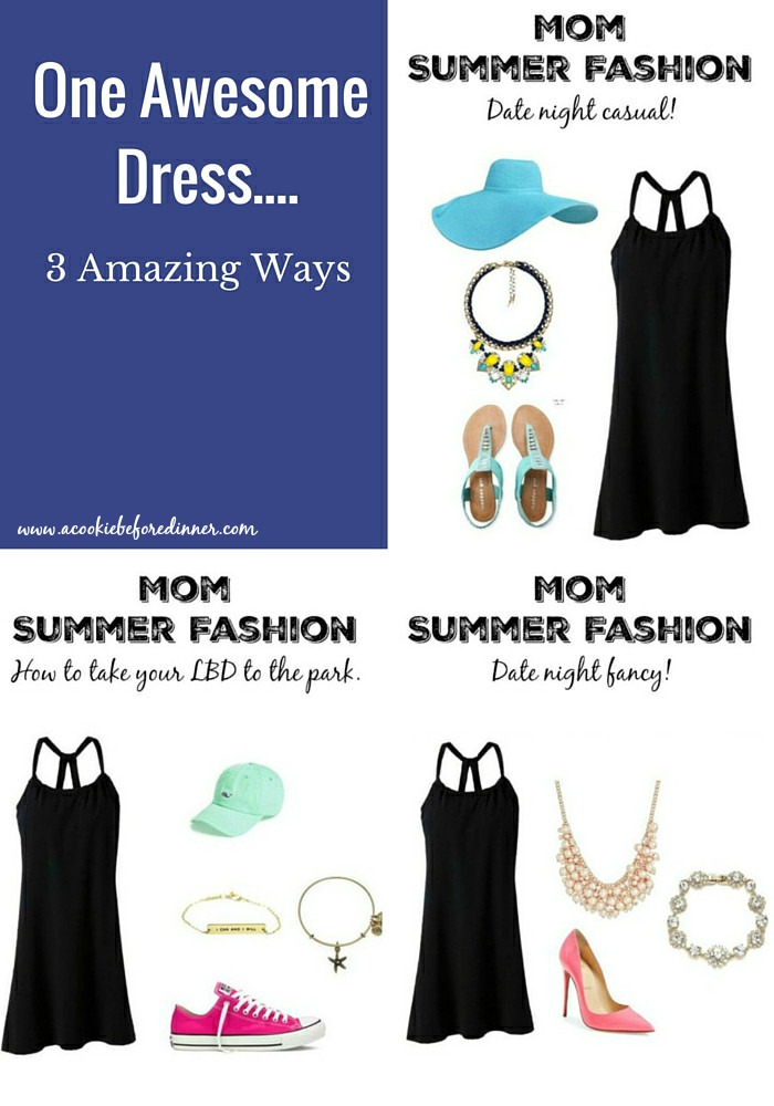 This dress is the real deal for summer mom fashion. It can go from day to night with just a few accessory changes!