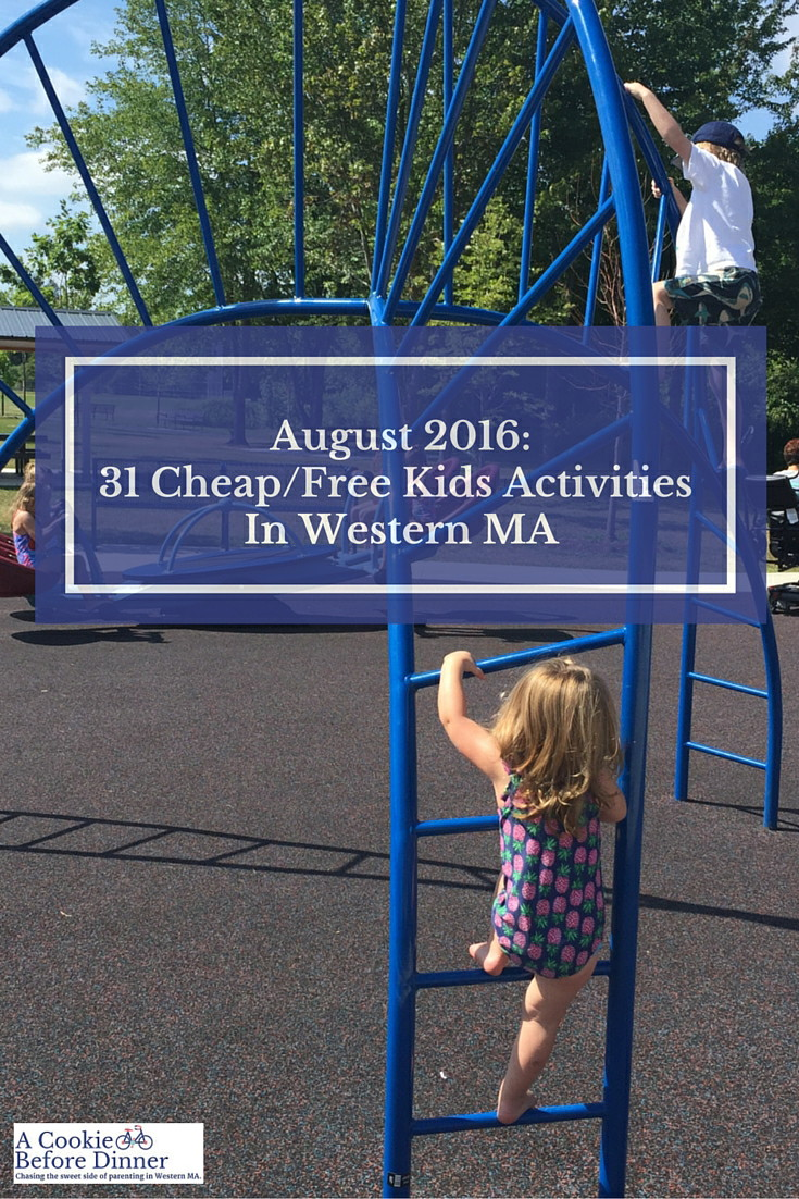 31 awesome things to do in Western MA this August with kids. Most of them are free!