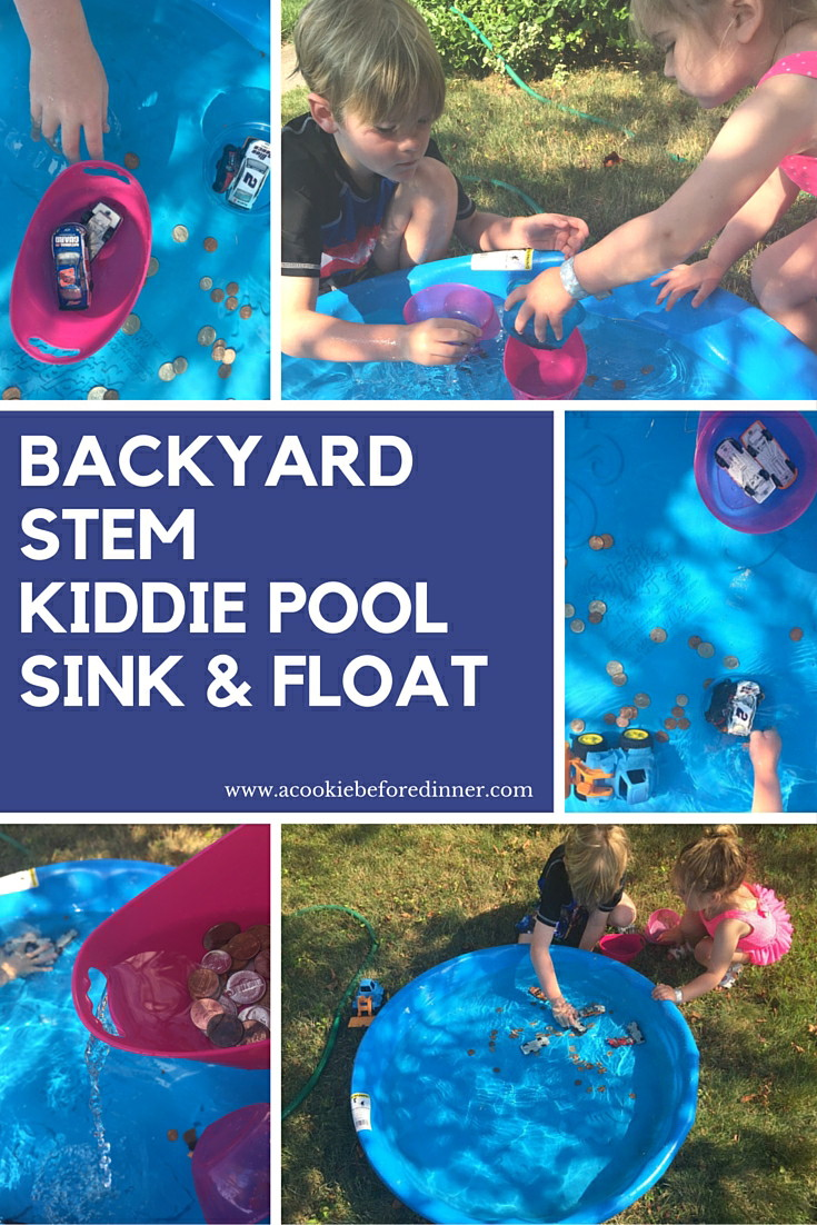Kiddie pool sink and float is a great budget friendly summer stem activity! Chances are, you've got everything you need already at home!