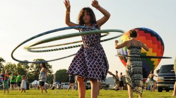 Willa O'Donnell, 6, of Florence hula hoops it up at GRF. Recorder/Paul Franz