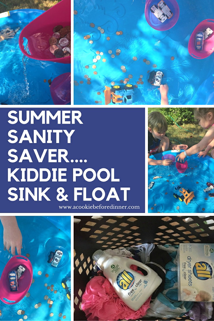 Stop your kids from fighting all summer long by introducing them to this epic kiddle pool sink and float activity!