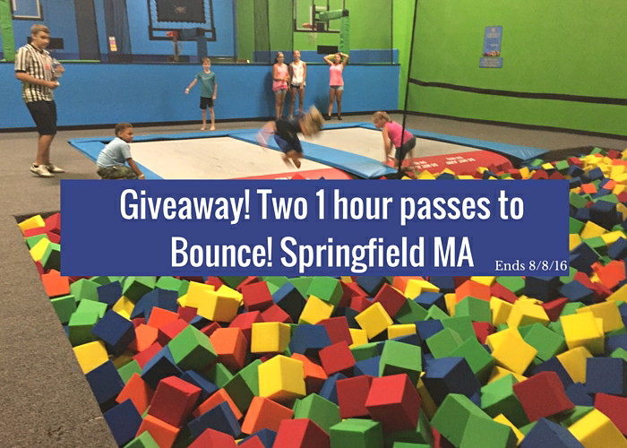 Win! Two 1 hour passes to Bounce! Springfield MA