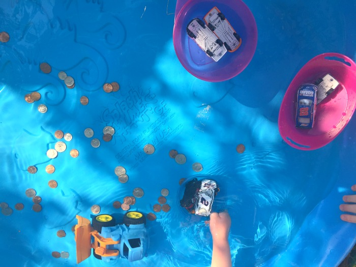 Kiddie Pool Sink And Float Science Experiment