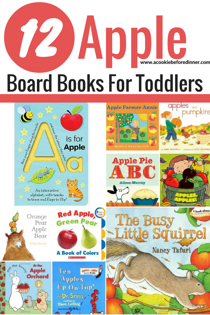 Looking for easy toddler apple activities? You'll love reading these apple board books for toddlers!
