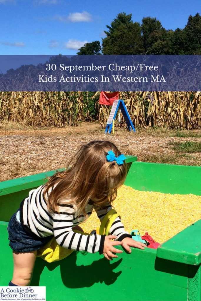 30 cheap or free things to do with kids in the Northampton, MA area this September 2016.