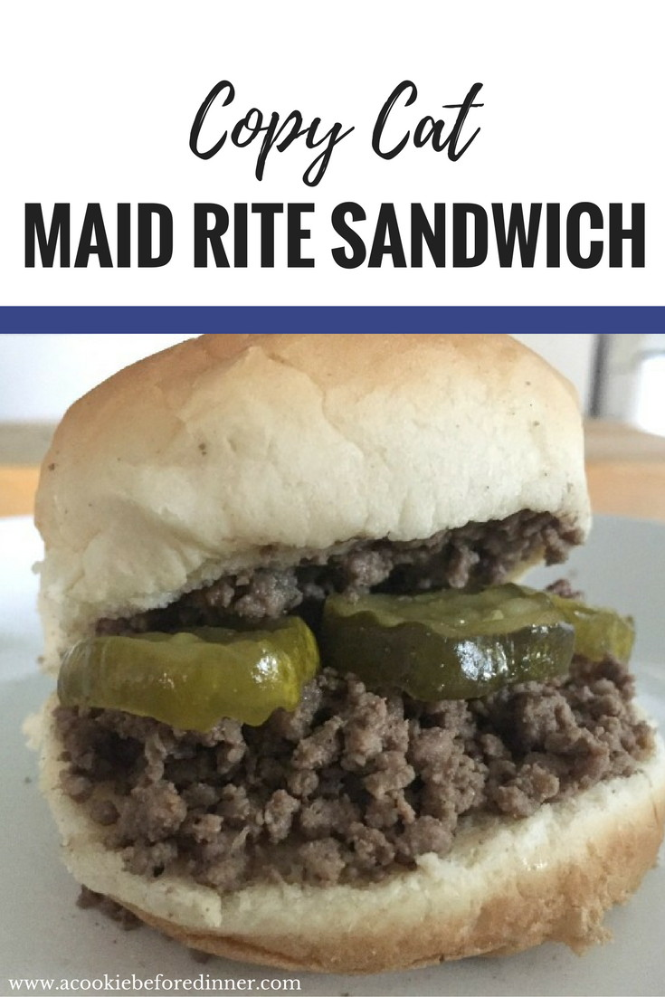 Looking for easy school night meals? This copy cat maid rite sandwich recipe is out of this world!