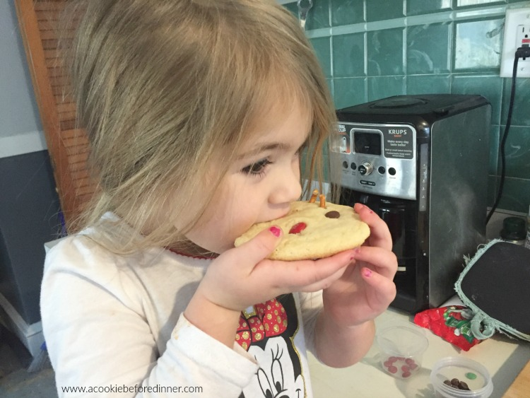 Kid Friendly Rudolph Sugar Cookie Recipe