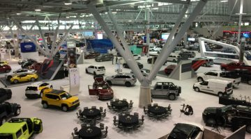 A bird's eye view of the Boston Auto Show!